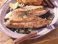 Pan Fried Brook Trout With Greens Recipe