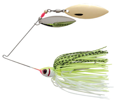 Booyah double willow blade spinnerbait for How to make a fishing spinner