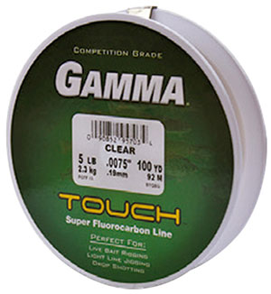 Gamma touch super fluorocarbon line for Gamma fishing line
