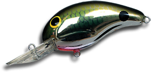 Bandit Lures Crankbaits - 200 Series 40 - Chrome Tennessee Shad