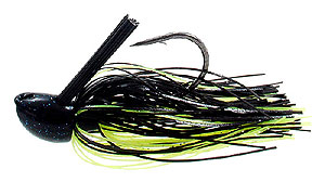D&L Tackle Advantage Series Jigs Black Chartreuse