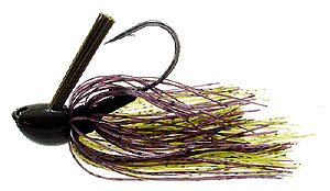 D&L Tackle Advantage Series Jigs Black Smoke Natural Chartreuse