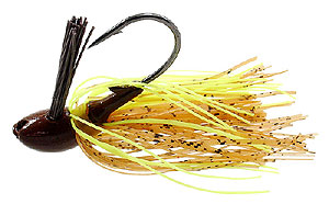 D&L Tackle Advantage Series Jigs Pumpkin Hot Charteuse