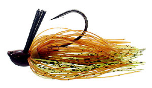 D&L Tackle Advantage Series Jigs Pumpkin Natural Chartreuse