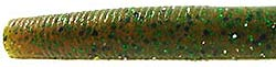 Strike King 3X Plastic Bait - Zero Worm 11 Pumpkin Green Flake