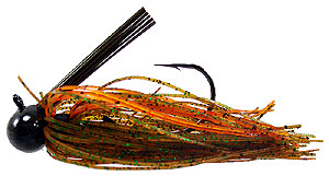Tight Line Jigs Mussel Crawler Football Jigs 44 - Pumpkin/Green/Orange