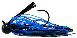 Tight Line Jigs Mussel Crawler Football Jigs 48 - Black & Blue w/Flake