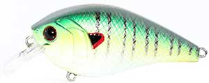 6th Sense Lures Crush 50X Square Bill Crankbait Green Sunfish