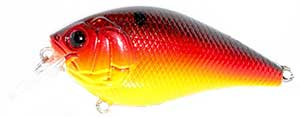 6th Sense Lures Crush 50X Square Bill Crankbait Lava Treuse