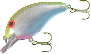 Bandit Lures Crankbaits - 100 Series A07 - Chartreuse/Gray Scale/Pearl