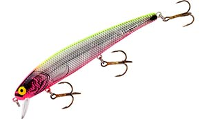 Bomber Lures Long 'A' Series XSIPKCHP - Silver Flash/Pink Head