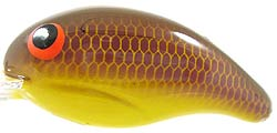 Bandit Lures Crankbaits - 100 Series A36 Peanut Butter Jelly/Banana