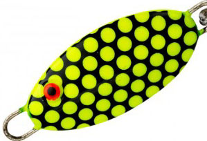 Bomber Lures Slab Spoon 92 Fluorescent Yellow Black Scale