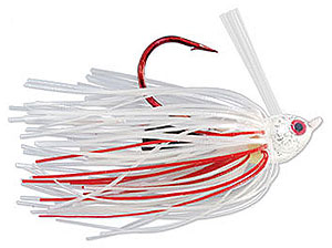 Strike King Denny Brauer Premier Pro-Model Jig - Bleeding Series 10 Bleeding White Silver Flake