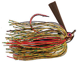 Strike King Denny Brauer Premier Pro-Model Jig - Bleeding Series 11 Bleeding Pumpkin Green