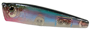 Baker Lures BBT Top Water Popper Series HF005 - Red Throat Rainbow