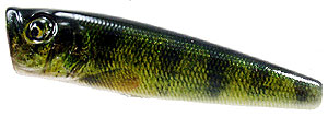 Baker Lures BBT Top Water Popper Series T004 - Perch