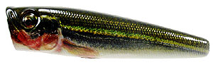 Baker Lures BBT Top Water Popper Series TH001 - Red Green Flash