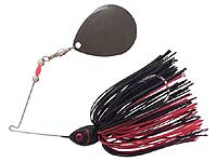 BOOYAH Bait Co. Moon Talker Spinnerbait 603 - Black/Red