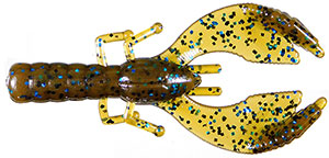 Cabin Creek Express  Craw 57 - Green Pumpkin/Blue Glitter