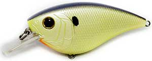6th Sense Lures Crush Flat 75X Square Bill Crankbait Charteuse Pearl