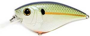 6th Sense Lures Crush Flat 75X Square Bill Crankbait Chartreuse Threadfin Shad