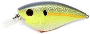 6th Sense Lures Crush Flat 75X Square Bill Crankbait Sexified Chartreuse Shad