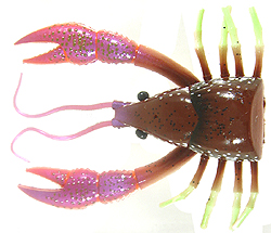 River2Sea Dahlberg Clackin' Crayfish 03 - Brown Red - 130 Trailer Pack