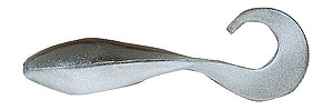 Bass Assassin 2-inch Curly Shad 300 - Black Shad