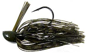 D&L Tackle Advantage Series Jigs Green Pumpkin/Barbwire