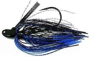 D&L Tackle Bill Lowen's Signature Series Swim Jig Black/Blue/Fish Scale