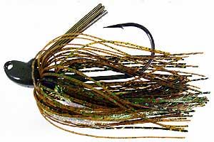 D&L Tackle Bill Lowen's Signature Series Swim Jig Green Crystal Flash