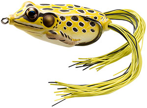 Koppers  Live Target Hollow Body Frog 501 - Yellow/Black