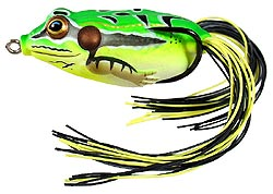 Koppers  Live Target Hollow Body Frog 504 Fluorescent Green Yellow