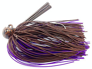 Fat Sack Tackle Football Jig 18 - Brown Purple Rubber
