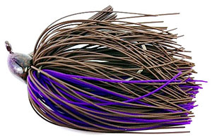 Fat Sack Tackle Finesse Jig 18 - Brown Purple Rubber