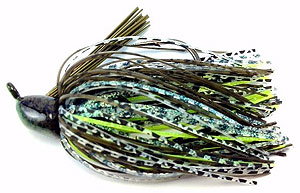 Fat Sack Tackle Finesse Jig 02 - Dark Green Pumpkin Neon