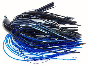 Fat Sack Tackle Rock Crawler Jig 11 - Black Blue Flash