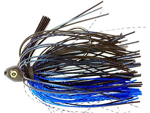 Fat Sack Tackle Switch Blade Swim Jig 11 - Black Blue Flash