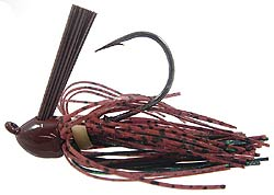 Chompers Skirted Brush Jig Davenport Special Brown/Green Flash
