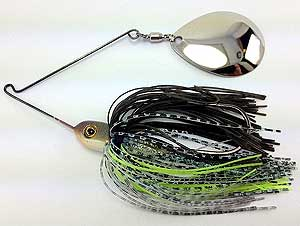 Fat Sack Tackle Thump-em-Up Spinnerbait 02 - Dark Green Pumpkin