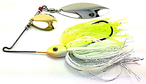Fat Sack Tackle Ultra Mag Spinnerbait 03 - Chartreuse/White Flash