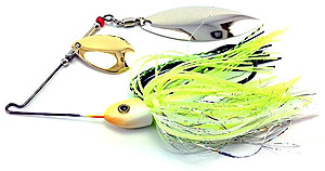 Fat Sack Tackle Ultra Mag Spinnerbait 04 - Chartreuse Blue Back