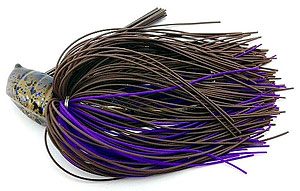 Fat Sack Tackle Flipping Jigs 18 - Brown Purple Rubber