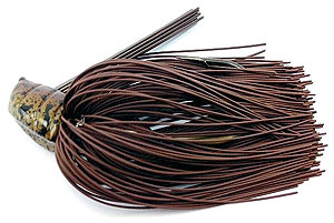 Fat Sack Tackle Flipping Jigs 28 - Brown Rubber