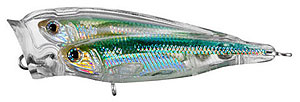 Koppers  Live Target Glass Minnow Baitball Popper 952 - Silver/Green