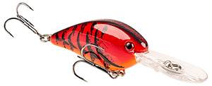 Strike King KVD 1.5 Flat Side Pro-Model Crankbaits 450 - Delta Red