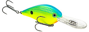 Strike King KVD 1.5 Flat Side Crankbait 561 - Powder Blue Back Chartreuse