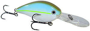 Strike King KVD 1.5 Flat Side Pro-Model Crankbaits 688X - Sexy Green Shad