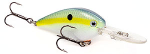 Strike King KVD 1.5 Flat Side Crankbait 538 - Chartreuse Sexy Shad